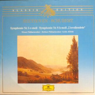 "Beethoven* ⋅ Schubert* - Wiener Philharmoniker ⋅ Berliner Philharmoniker ⋅ Karl Böhm - Symphonie Nr. 5 C-Moll ⋅ Symphonie Nr. 8 H-Moll ""Unvollendete"" (LP, Club)"