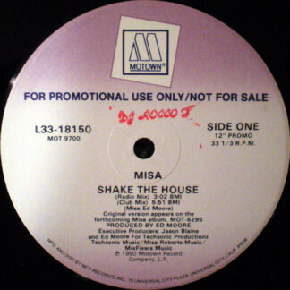 """Misa - Shake The House (12"""", Single, Promo)"""