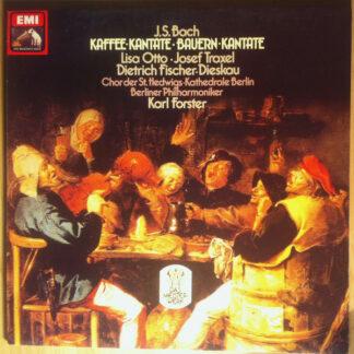 Bach* - Dietrich Fischer Dieskau*, Lisa Otto, Josef Traxel, Berlin Philharmonic Orchestra*, Karl Forster - Kaffee-Kantate - Bauernkantate (LP)