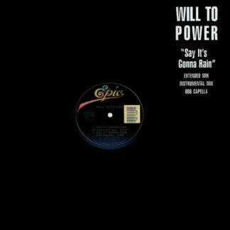 """Will To Power - Say It's Gonna Rain (12"""")"""