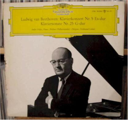 Ludwig van Beethoven / Andor Foldes , Piano ‧ Berliner Philharmoniker ‧ Dirigent: Ferdinand Leitner - Klavierkonzert Nr. 5 Es-Dur, Op. 73 ‧ Klaviersonate Nr. 25 G-dur Op. 79 (LP, Mono)