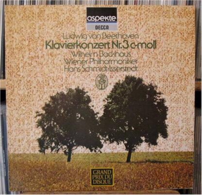 "Beethoven* / Wilhelm Backhaus / Wiener Philharmoniker / Hans Schmidt-Isserstedt - Klavierkonzert No. 3 C-Moll / ""Mondschein Sonate"" (LP, Album)"