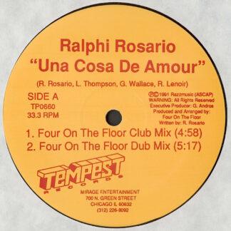 """Ralphi Rosario - Una Cosa De Amour (12"""")"""
