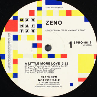 "Zeno (5) - A Little More Love (12"", Single, Promo)"