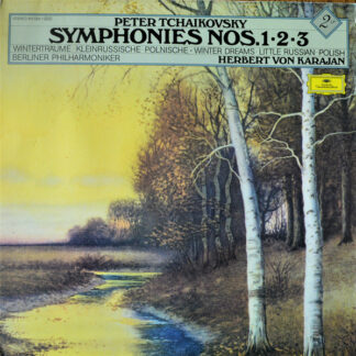 "Tchaikovsky* - Berliner Philharmoniker / Karajan* - Symphonies No. 1 ""Winter Dreams"", No. 2 ""Little Russian"", No. 3 ""Polish"" (2xLP, Album, RE, Gat)"