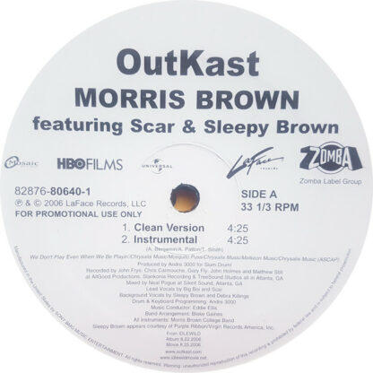 "OutKast - Morris Brown (12"", Promo)"