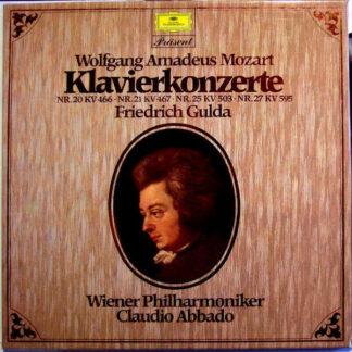 Wolfgang Amadeus Mozart - Friedrich Gulda, Wiener Philharmoniker, Claudio Abbado - Klavierkonzerte Nr. 20 KV 466 Nr. 21 KV 467 Nr. 25 KV 503 Nr. 27 KV 595 (2xLP + Box, Comp)