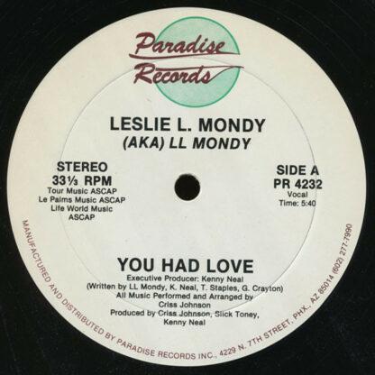 """Leslie L. Mondy - You Had Love (12"""", Single)"""