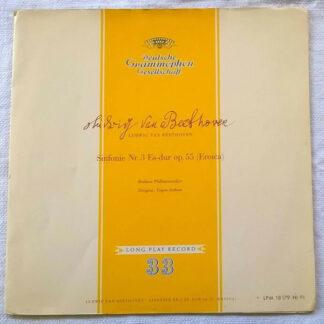 "Beethoven* - Berliner Philharmoniker / Eugen Jochum - Symphonie Nr. 3 Es-Dur Op. 55 ""Eroica"" (LP, Mono, sti)"