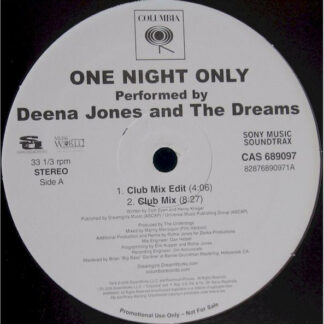 "Deena Jones And The Dreams - One Night Only (12"", Promo)"