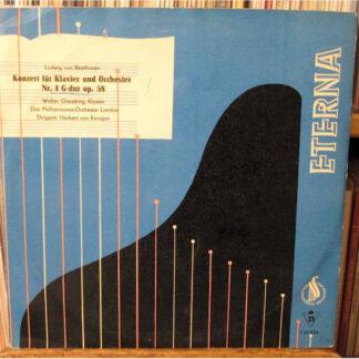 """Ludwig van Beethoven - Walter Gieseking, Das Philharmonia-Orchestra London*, Herbert von Karajan - Konzert Für Klavier Und Orchester Nr. 4 G-dur Op. 58 (10"""", Mono, RE)"""