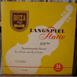 """Bach* - Brandenburgisches Konzert  Nr. 2 F-dur und Nr. 3 G-dur (10"""", Mono)"""