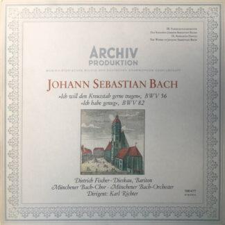 Johann Sebastian Bach - Ich Will Den Kreuzstab Gerne Tragen, BWV 56 / Ich Habe Genug, BWV 82 (LP)
