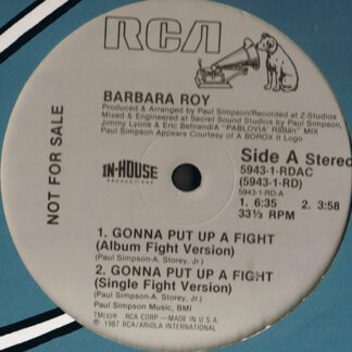 "Barbara Roy - Gonna Put Up A Fight (12"", Maxi, Promo)"