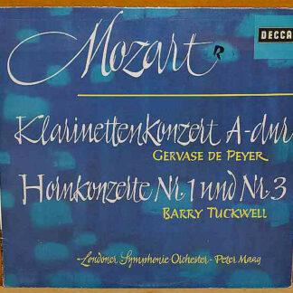 Mozart*, Barry Tuckwell, Gervase de Peyer, Peter Maag, Londoner Symphonie-Orchester* - Clarinet Concerto / Horn Concertos Nos. 1 & 3 (LP)