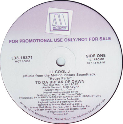 """LL Cool J - To Da Break Of Dawn (12"""", Promo)"""