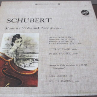György Pauk, Peter Frankl, Paul Olefsky, Walter Hautzig - Schubert Music for Violin and Piano (complete) (3xLP + Box)