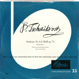 Peter I. Tschaikowsky* - Sinfonie Nr. 6 H-moll, Op. 74 (Pathétique) (LP, Mono, Club)
