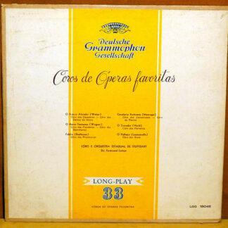 Weber*, Wagner*, Beethoven*, Mascagni*, Verdi*, Leoncavallo* - Ferdinand Leitner - Staatsorchester Stuttgart - Coros De Operas Favoritas (Favorite Choir Operas) (LP, Mono)