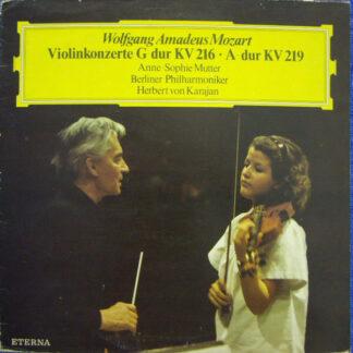 Wolfgang Amadeus Mozart, Anne-Sophie Mutter, Berliner Philharmoniker, Herbert von Karajan - Violinkonzerte G-dur KV 216 · A-dur KV 219 (LP, Blu)
