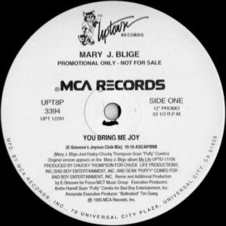 """Mary J. Blige - You Bring Me Joy (12"""", Promo)"""