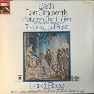 Bach* - Lionel Rogg - Das Orgelwerk - Folge 7 - Präludien Und Fugen / Toccata Und Fuge (LP, Quad)
