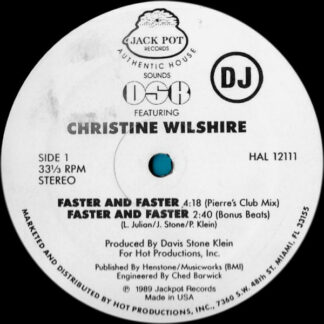 """DSK Featuring Christine Wilshire* - Faster And Faster (12"""", Promo)"""