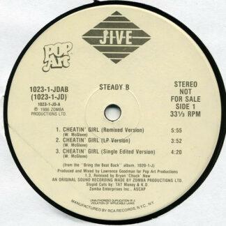 "Steady B - Cheatin' Girl / Bring The Beat Back (12"", Promo)"