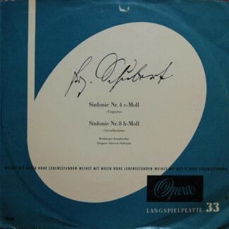 Franz Schubert, Bamberger Symphoniker Dirigent: Heinrich Hollreiser - Sinfonie Nr. 4 C-Moll / Sinfonie Nr. 8 H-Moll (LP, Mono, Club)