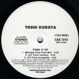 """Toshi Kubota* - Funk It Up (12"""", Promo)"""