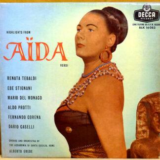 Giuseppe Verdi, Renata Tebaldi, Mario del Monaco, Alberto Erede - Aida Ausschnitte (LP, Mono)