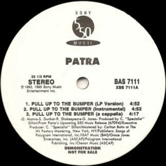 """Patra - Pull Up To The Bumper / Whining Skill (12"""", Promo)"""
