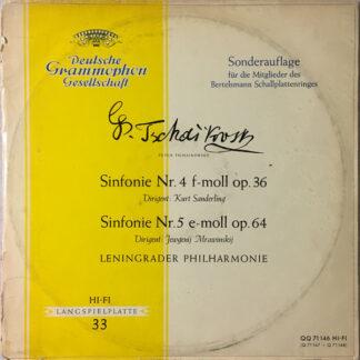 Peter Tschaikowsky*, Leningrader Philharmonie* - Sinfonie Nr. 4 F-Moll Op. 36 / Sinfonie Nr. 5 E-Moll Op. 64 (2xLP, Mono, Club, S/Edition)