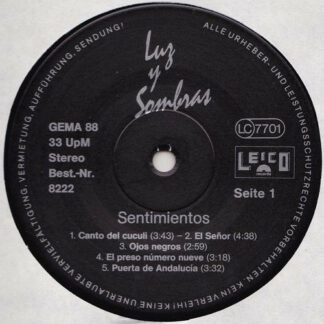 Sentimientos - Luz Y Sombras (LP, Album)