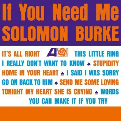 Solomon Burke - If You Need Me (LP, Album, RE, 180)