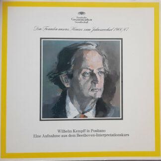 Wilhelm Kempff - Den Freunden Unseres Hauses Zum Jahreswechsel 1966/67 - Wilhelm Kempff In Positano - Eine Aufnahme Aus Dem Beethoven-Interpretationskurs (LP, Album, Comp, Gat)