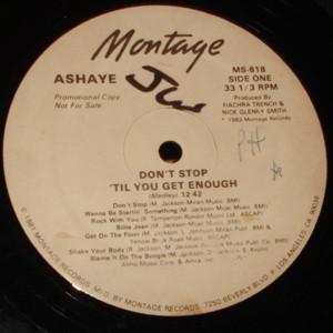 """Ashaye - Don't Stop 'Til You Get Enough (12"""", Promo)"""