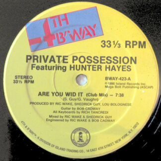 """Private Possession Featuring Hunter Hayes - Are You Wid It (12"""")"""