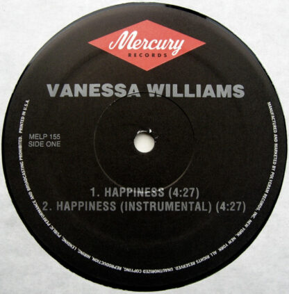 "Vanessa Williams - Happiness (12"")"