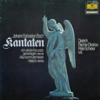 Johann Sebastian Bach, Dietrich Fischer-Dieskau, Peter Schreier - Kantaten (»Ich Will Den Kreuzstab Gerne Tragen« BWV56 / »Nun Komm Der Heiden Heiland« BWV62) (LP, Comp)