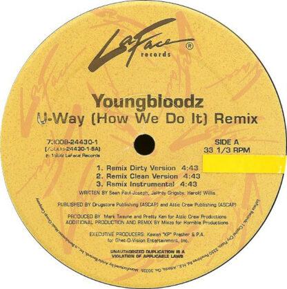 """YoungBloodZ - U-Way (How We Do It) (Remix) (12"""")"""