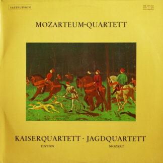 Joseph Haydn, Wolfgang Amadeus Mozart, Mozarteum Quartett - Kaiserquartett / Jagdquartett (LP)