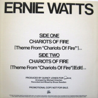 """Ernie Watts - Chariots Of Fire (12"""", Promo)"""