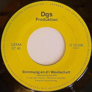 """H. Van Den Driesch - Müllemer Scheffer - Stimmung En D'r Weetschaft (7"""", Single)"""