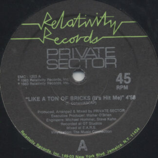 """Private Sector (2) - Like A Ton Of Bricks (It's Hit Me) (12"""")"""