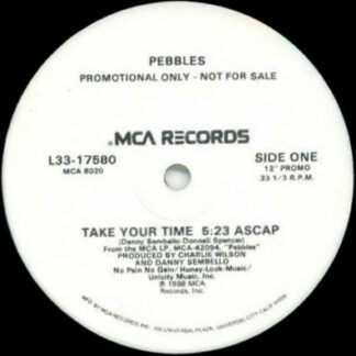 "Pebbles - Take Your Time (12"", Promo, Glo)"