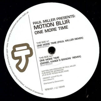 """Paul Miller (4) Presents: Motion Blur - One More Time (12"""")"""