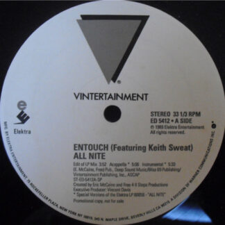 """Entouch (2) Featuring Keith Sweat - All Nite (12"""", Promo)"""