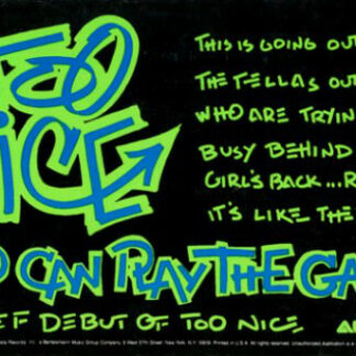 """Too Nice - Two Can Play The Game (12"""", Promo)"""