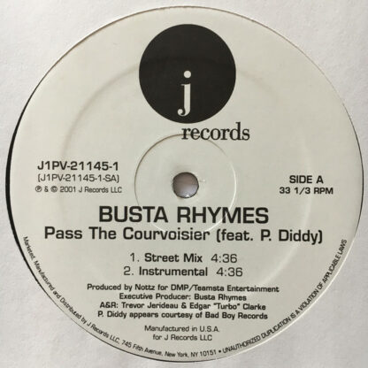 """Busta Rhymes feat. P. Diddy - Pass The Courvoisier (12"""")"""
